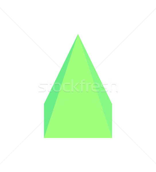 Square Pyramid Three Dimensional Vector Illustration Stock photo © robuart
