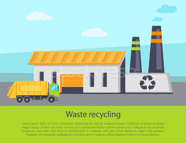 Waste Recycling Poster Text Vector Illustration Stock photo © robuart