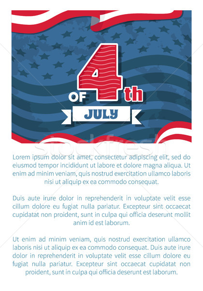 Fourth July Independence Day Vector Illustration Stock photo © robuart