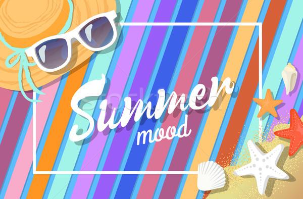 夏 気分 明るい カード 色 孤立した ストックフォト © robuart