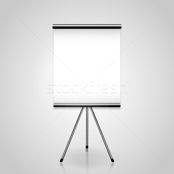Stock photo: White screen projector clean background