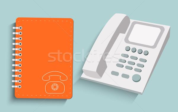Telefoon dagelijks kantoor internet ontwerp technologie Stockfoto © robuart