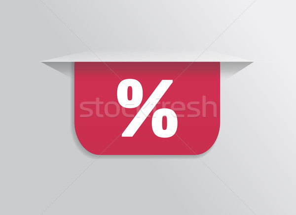 Bladwijzer sticker label tag symbool procent Stockfoto © robuart