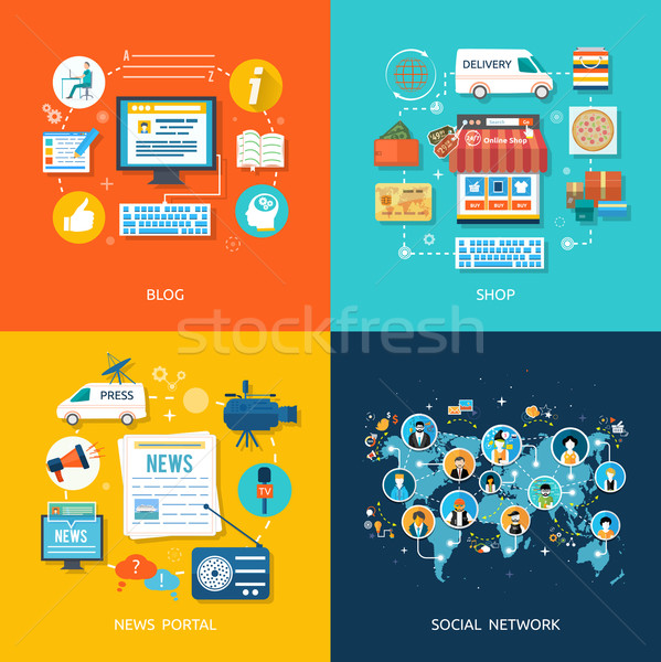 Social media and network connection concept Stock photo © robuart