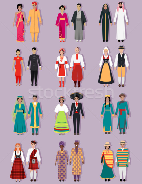 Set of National Costumes Design Stock photo © robuart