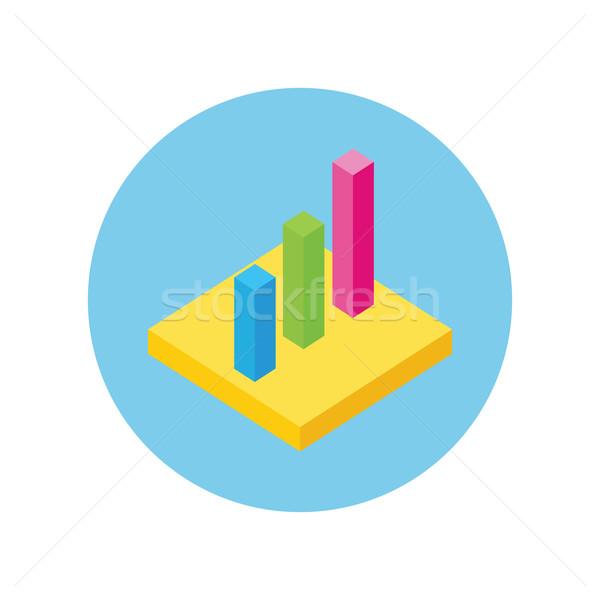 Kördiagram felirat terv izometrikus 3D elemzés Stock fotó © robuart