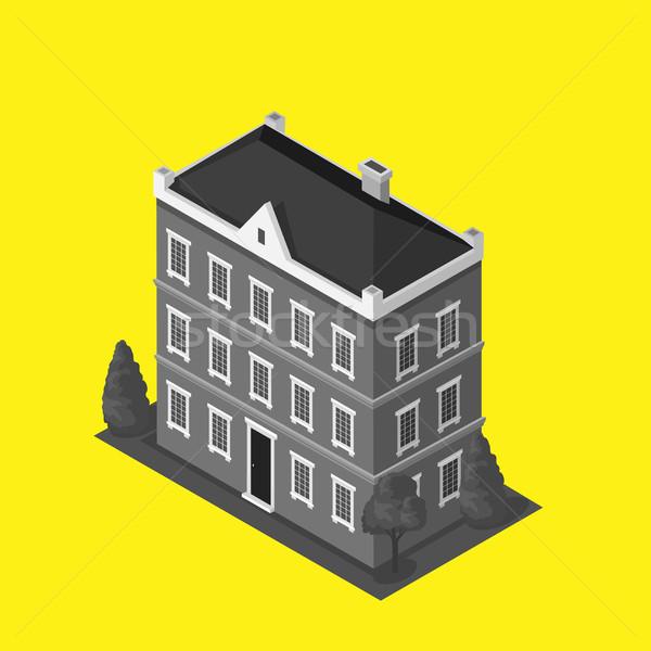 Gökdelenler ev Bina ikon gökdelen logo Stok fotoğraf © robuart