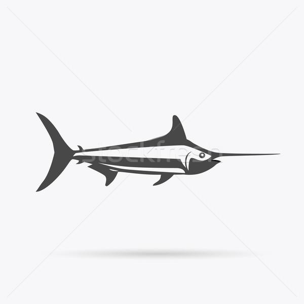 рыбы икона дизайна изолированный морем Сток-фото © robuart