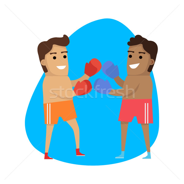Boxing Sport Template. Summer Games Banner Stock photo © robuart