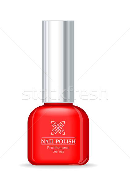 Nail Polish Professional Series Red Bottle. Stock photo © robuart