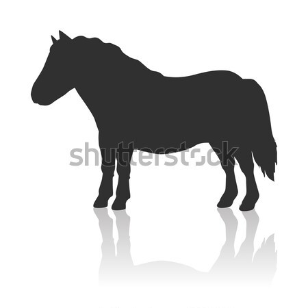 Red Pony Vector Logo Stock photo © robuart
