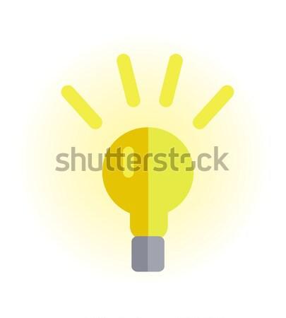 Photo stock: électriques · ampoule · illustration · design · vecteur · style