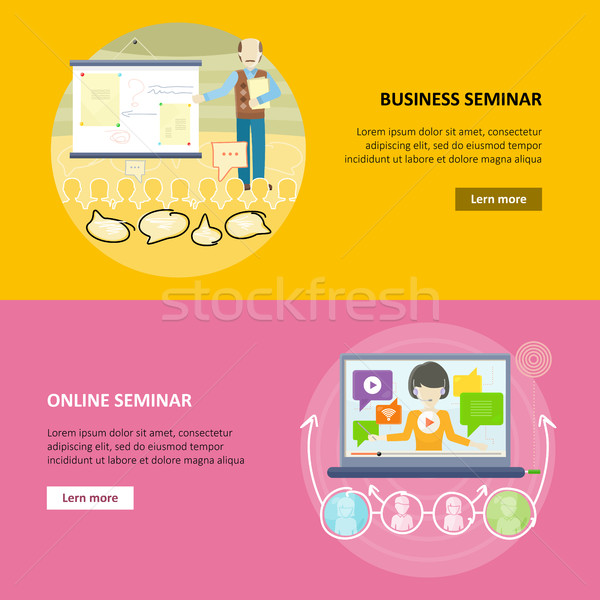 Stock photo: Set of Business Education Vector Web Banners.
