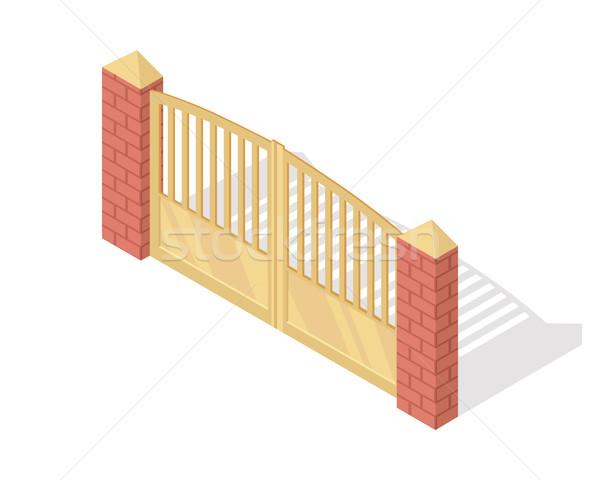 金属 ゲート ベクトル アイコン アイソメトリック 投影 ストックフォト © robuart