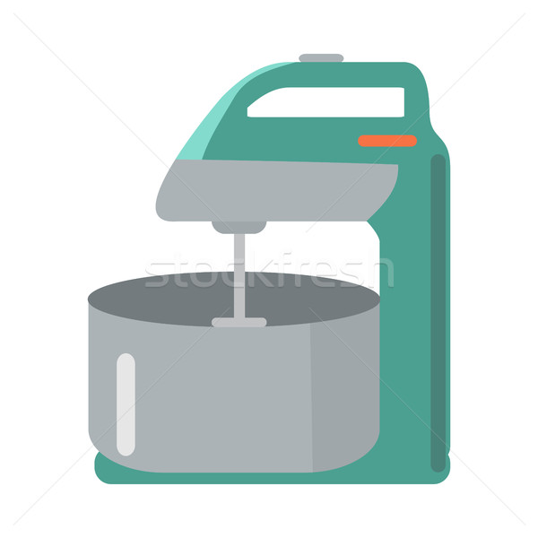 Mixer with Bowl in Flat Style. Household Appliance Stock photo © robuart
