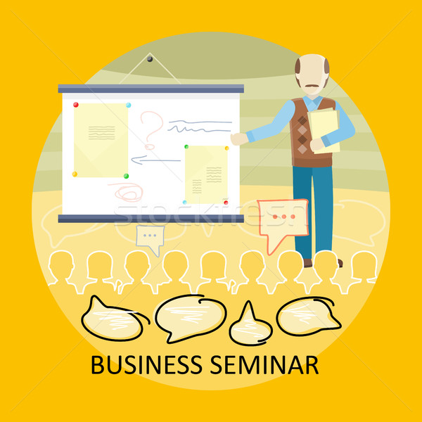 Stock photo: Business Training Vector Concept in Flat Design.
