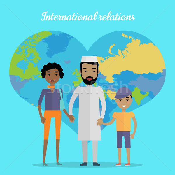 Międzynarodowych kontakty projektu wektora Emiraty człowiek Zdjęcia stock © robuart