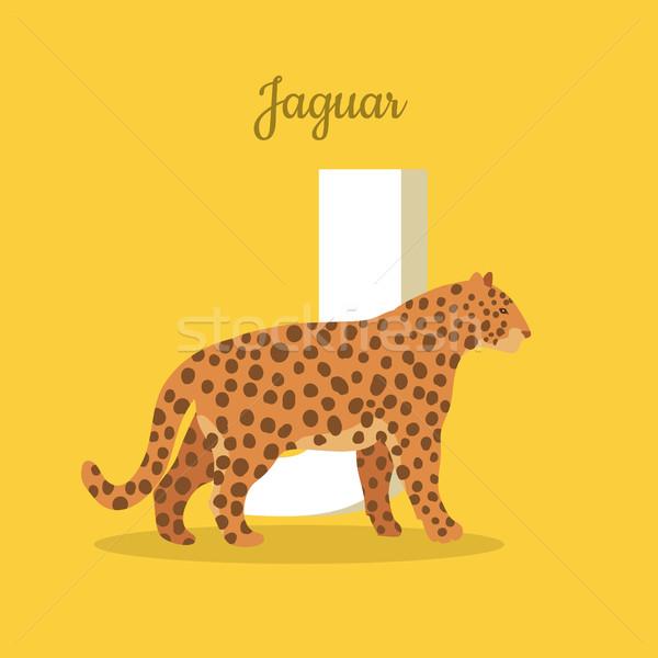 Animals Alphabet. Letter - J Stock photo © robuart