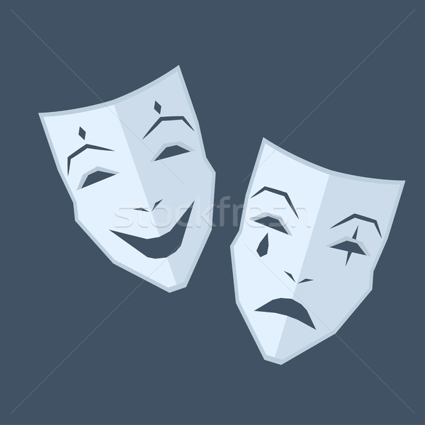 Mardi Gras. Two Masks with Different Emotions Stock photo © robuart