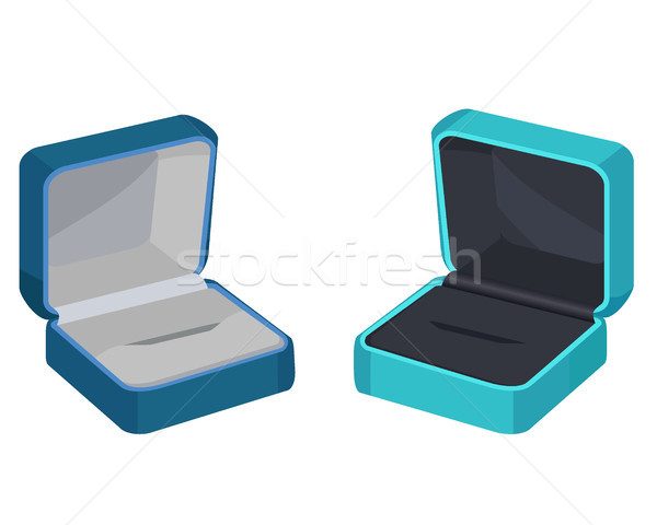 Concept of Two Gift Boxes for Ring or Earrings Stock photo © robuart