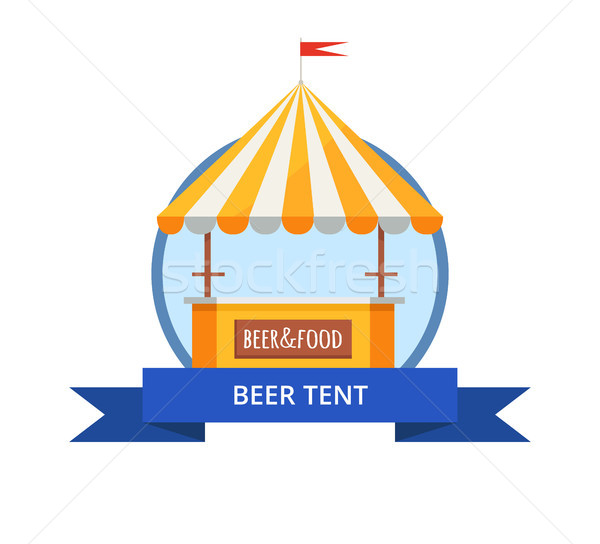 Beer Tent at October festival Vector Illustration Stock photo © robuart