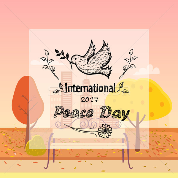 International Peace Day Vector Autumn Background Stock photo © robuart