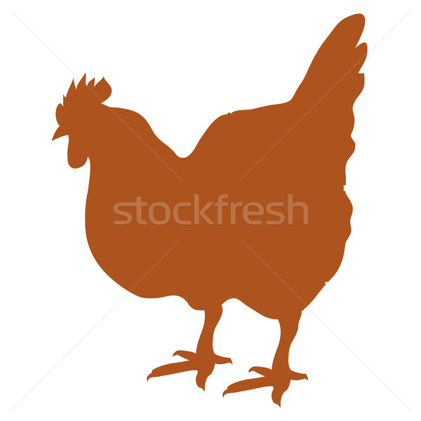 Silhouette of Hen Vector Illustration Isolated Stock photo © robuart