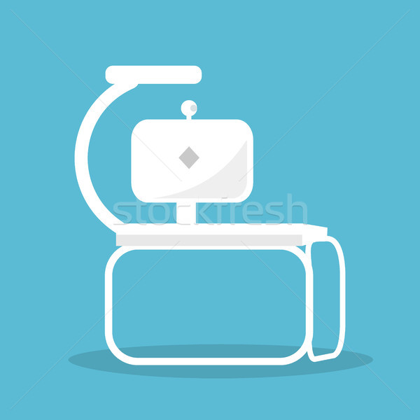 Modern Futuristic White Workspace Illustration Stock photo © robuart