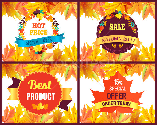 Autumn 2017 Sale Special Offer Vector Illustration Stock photo © robuart