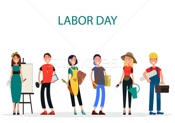 Labor Day of Different Professions Graphic Design Stock photo © robuart