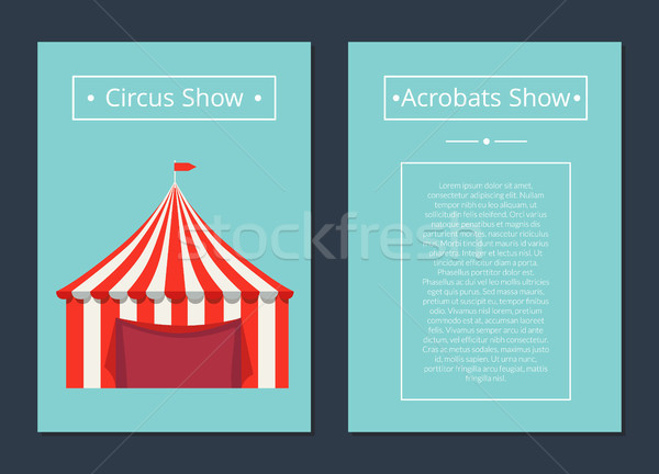 Circus Now Acrobat Show with Tent in Red and White Stock photo © robuart