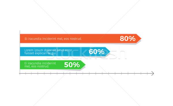 インフォグラフィック グラフ パーセンテージ サンプル 文字 ストックフォト © robuart