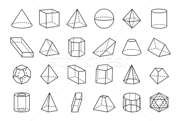 Collection of Geometric Shapes Vector Illustration Stock photo © robuart