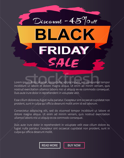 Desconto black friday venda promo cartaz Foto stock © robuart