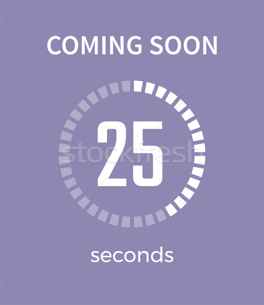 Coming Soon White Timer, Time Vector Illustration Stock photo © robuart