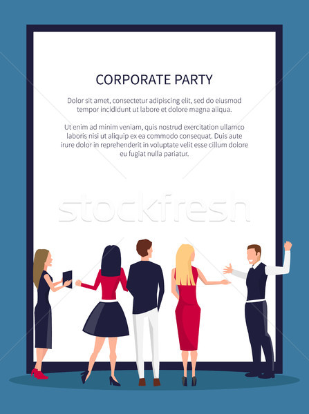 Corporate Party Dancing People Vector Illustration Stock photo © robuart