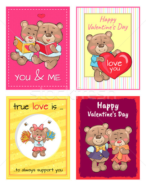 Happy Valentines Day to You and Me, True Love Set Stock photo © robuart