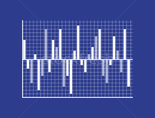 Bars show statistisch gegevens grafische business Stockfoto © robuart
