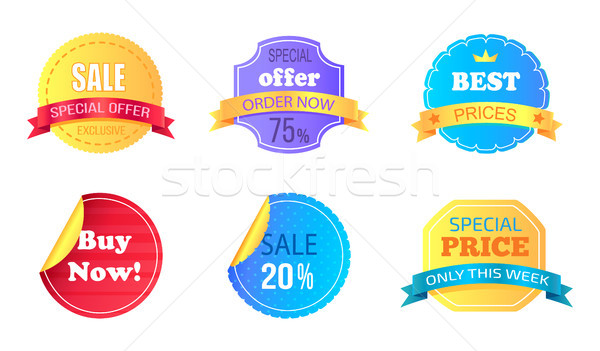 Set of Special Sale Stickers Vector Illustration Stock photo © robuart