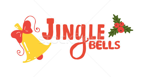 Jingle Bells Sign Icon Vector Illustration Stock photo © robuart