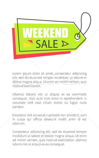 Weekend Sale Arrow Shaped Pointer on Lace, Vector Stock photo © robuart