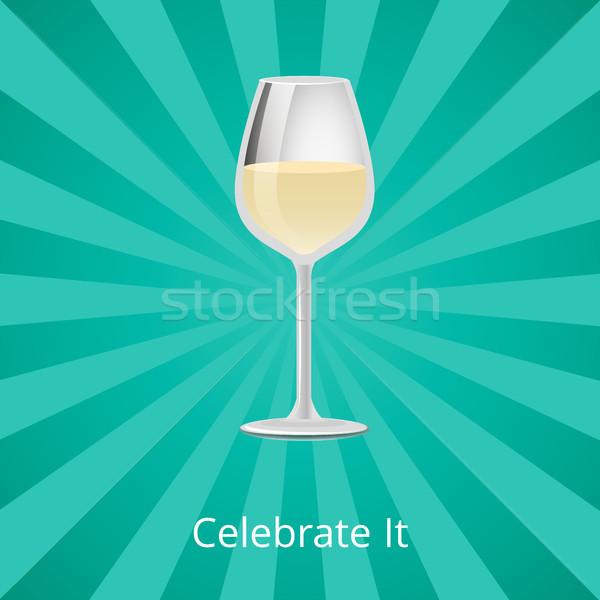 świętować szkła białe wino klasyczny pić elita Zdjęcia stock © robuart
