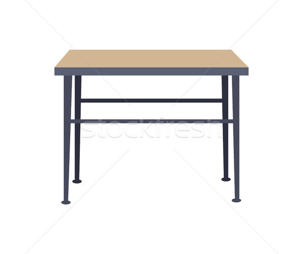 Squared Table Home Interior Vector Illustration Stock photo © robuart