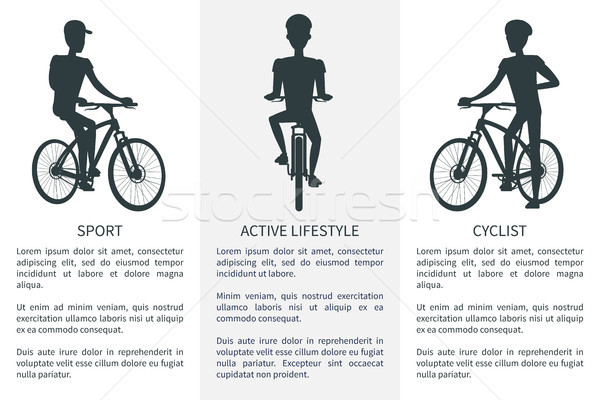 Sport Active Lifestyle and Cyclist Bright Banner Stock photo © robuart