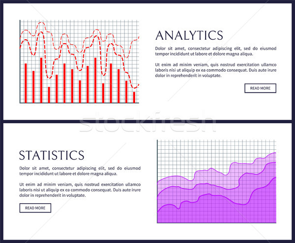 Analytics statistiek web tekst Stockfoto © robuart