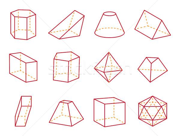 куб конус Top призма геометрический Сток-фото © robuart