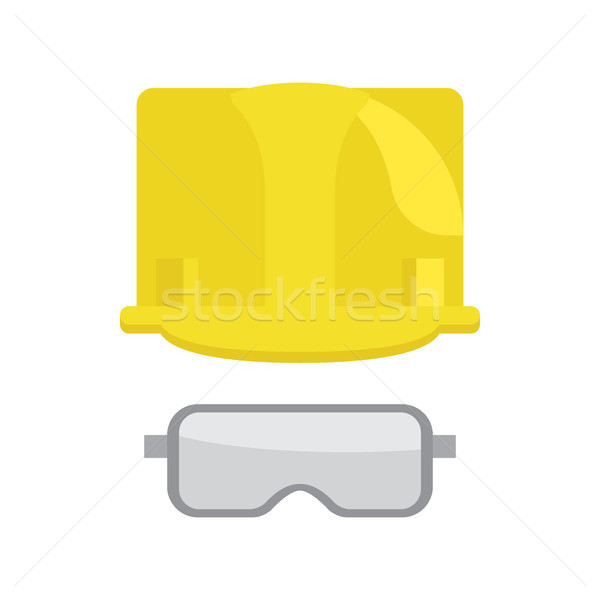 Construction Helmet And Protective Glasses Vector Stock photo © robuart