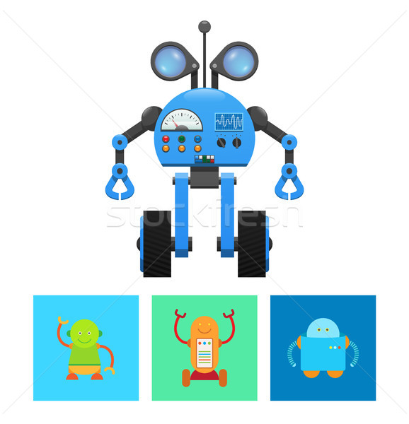 Technology Robots Collection Vector Illustration Stock photo © robuart