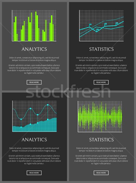 Analítica estadística datos tabla creciente infografía Foto stock © robuart