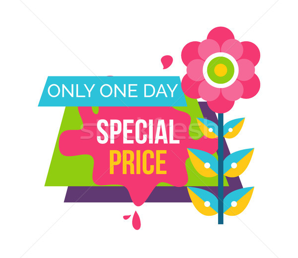 Only One Day Special Price Advertisement Sticker Stock photo © robuart